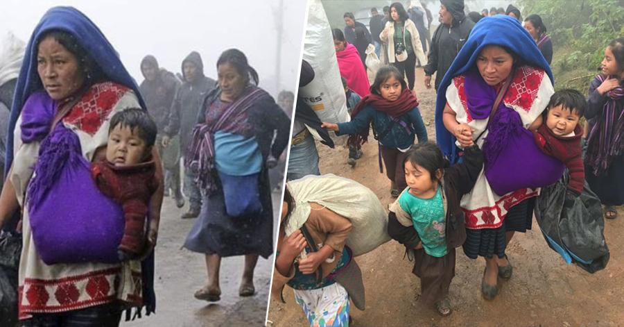 Miles de indígenas desplazados padecen hambruna; mientras el gobierno apoyar a los migrantes