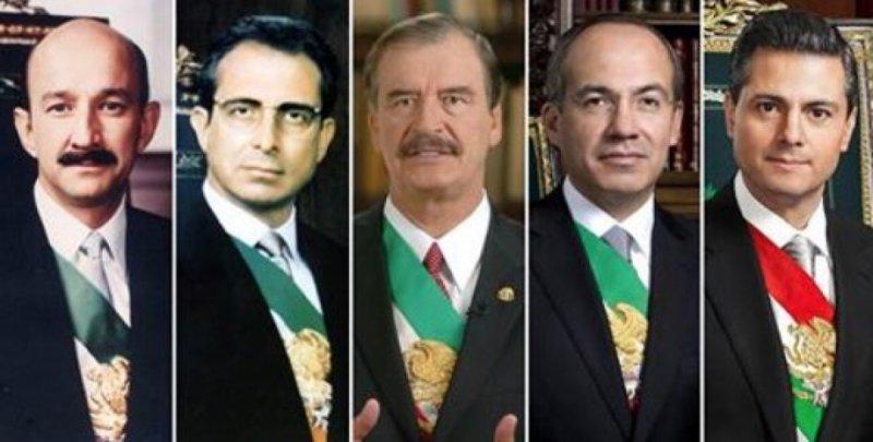 Salinas, Fox, Calderón y EPN pueden ser enjuiciados por sus delitos si los mexicanos lo exigen