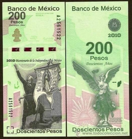 Nuevo Billete de $200 pesos